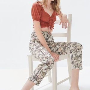 BDG High-Waisted Slim Straight Jean Camouflage
